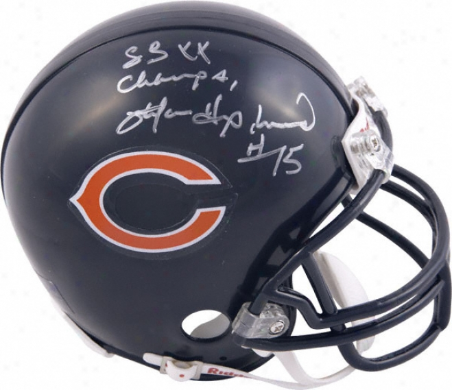 Stefan Humphries Chicago Bears Autographed Mini Helmet With Sb Xx Champs Inscription