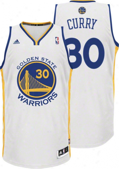 Stephen Curry White Adidas Revolution 30 Swingman Golden State Warriors Jersey