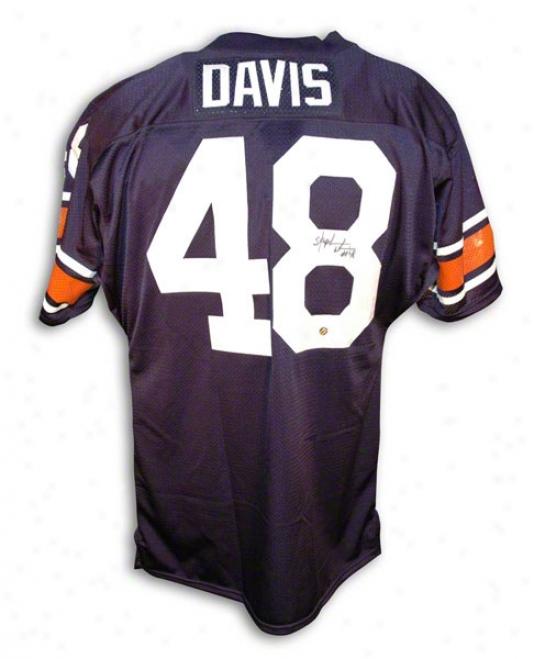 Stephen Davis Autographed Auburn University Livid Jersey