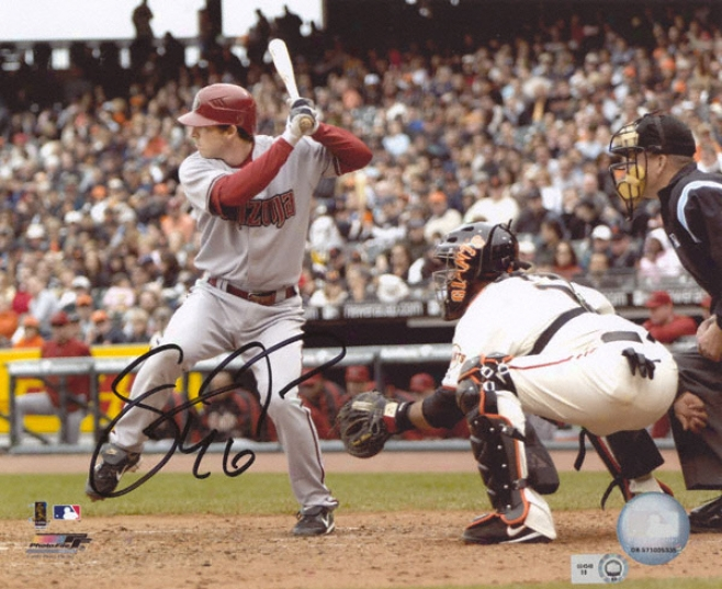 Stephen Drew Arizona Diamondbacks - At Bat - Autographed 8x10 Photograph
