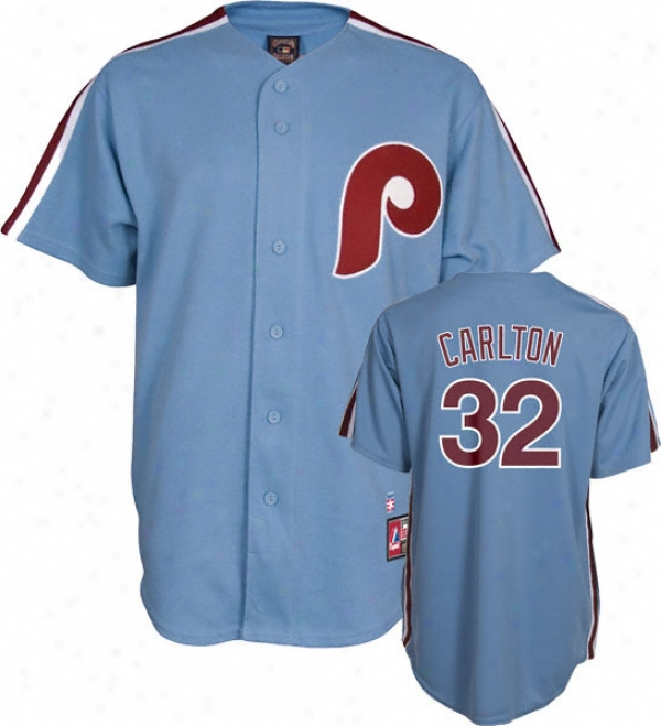 Steve Carlton Philadelphia Phillies Light Blue Cooperstown Replica Jersey