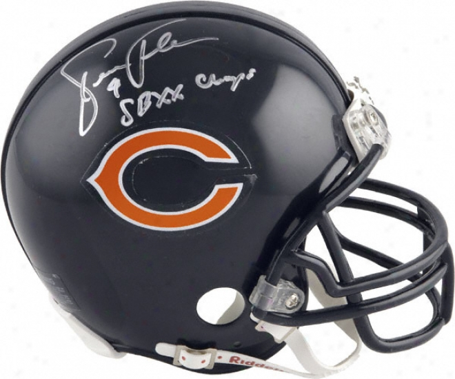 Steve Fuller Chicago Bears Autographed Mini Helmet With Sb Xx Champs Inscription