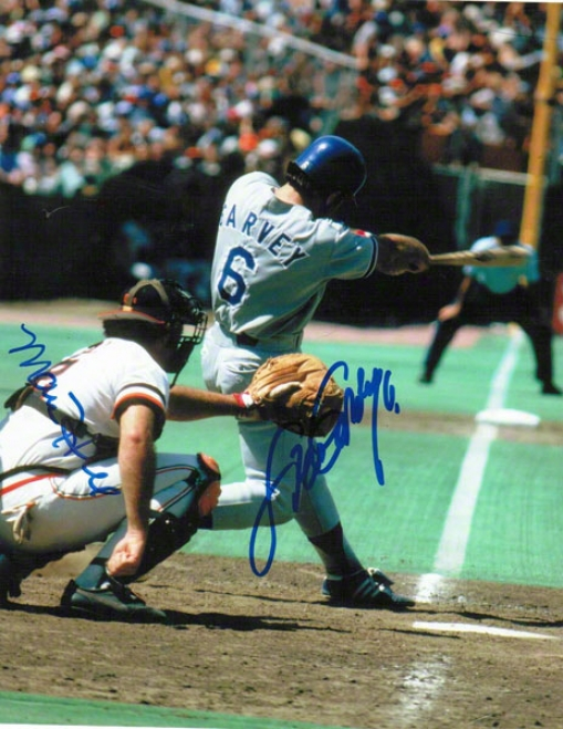 Steve Garvey And Marc Hill Dual Autographed 8x10 Photo