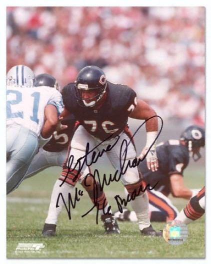 Steve Mcmichel Chicago Bears Autographed 8x10 Photograph