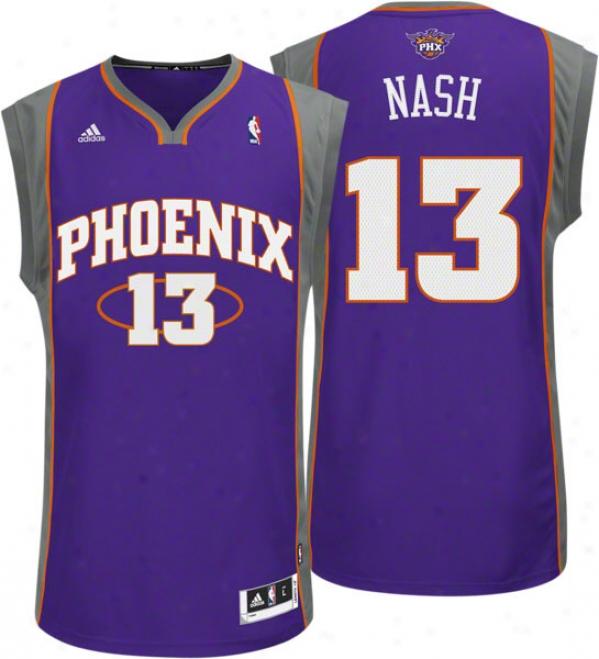 Steve Nash Purple Adidas Revolution 30 Swingman Phoenix Suns Jersey