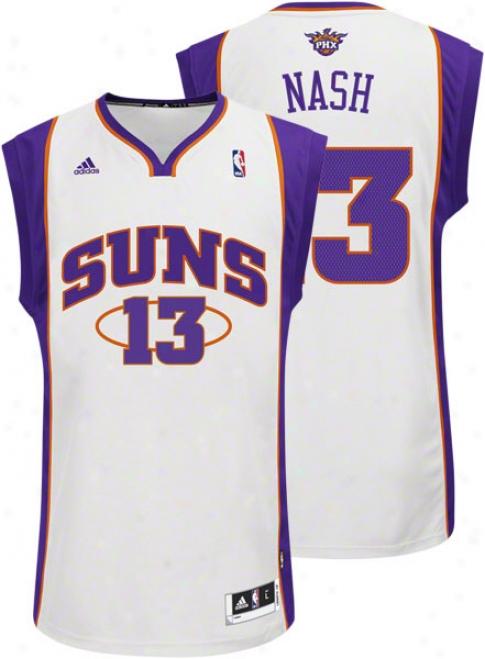 Steve Nash White Adidas Revolutiinn 30 Swingman Phoenix Suns Jersey