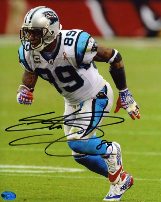 Steve Smith Autographed 8x10 Photograph  Particulars: Carolina Panthers