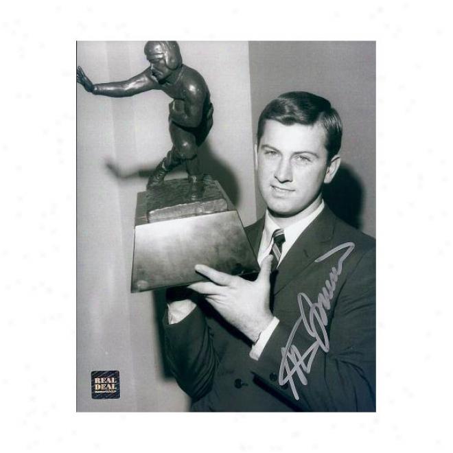 Steve Spurrier Autographed Florida Gators 1966 Heisman Memorial of conquest 8x10 Photo