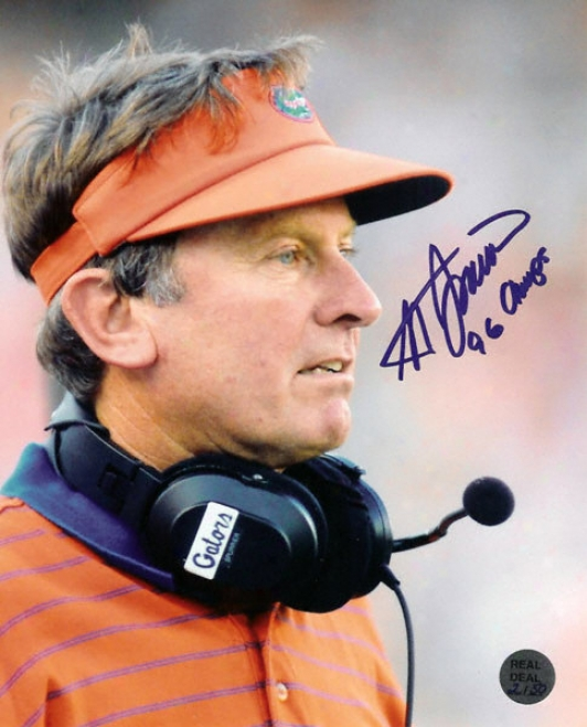Steve Spurrier Florida Gators - Heisman - 16x20 Autographed Photo With &quot96 Champs&quot Inscription