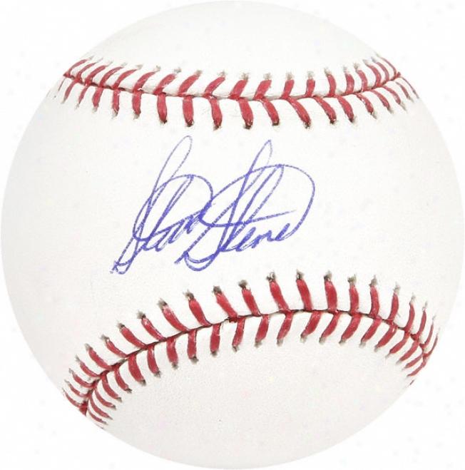 Steve Stone Autographed Baseball
