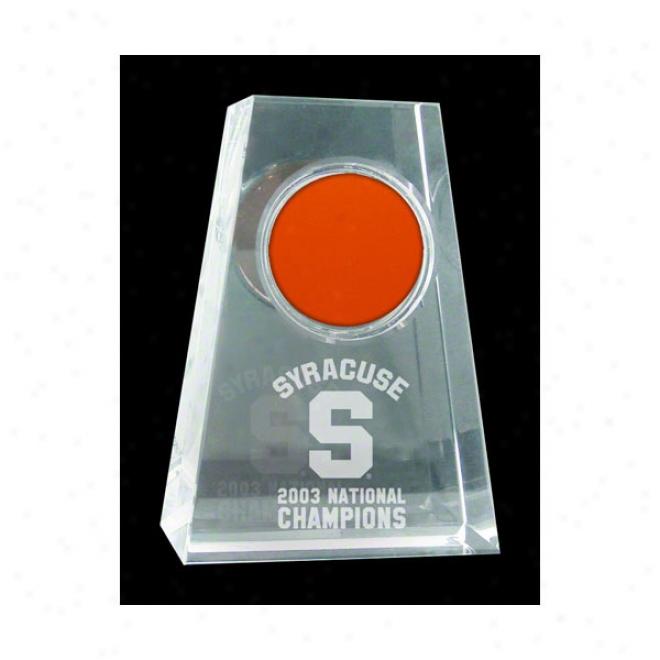 Syracuse Orange 2003 National Champions Tapered Crystal Wiyh Logo & Game Used Floor