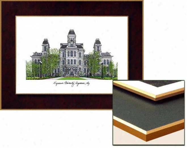 Syracuse Orange Collegiate Laminated Lithograph