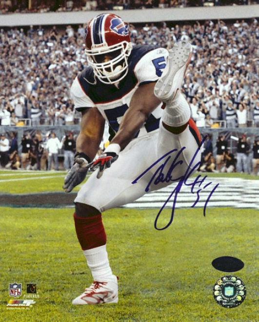 Takeo Spikes Buffalo Bills Autographed 8x10 Photograph