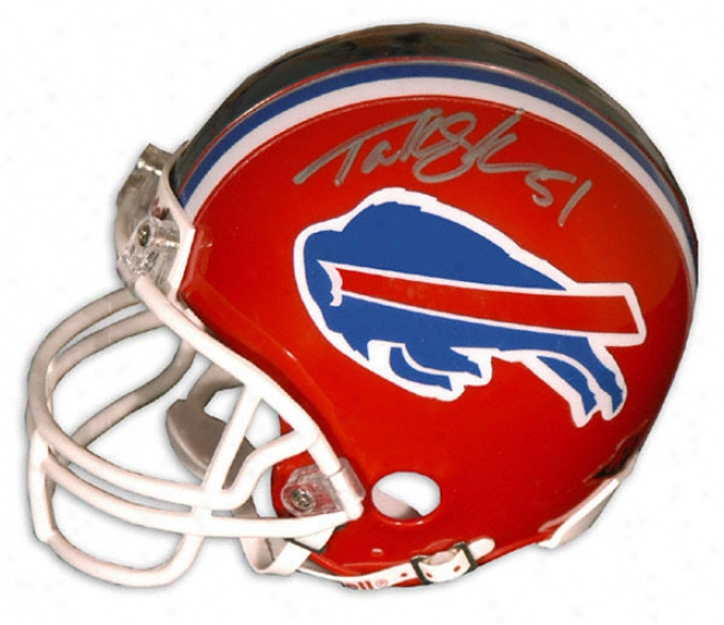 Takeo Spikes Buffalo Bills Autographed Mini Helmet