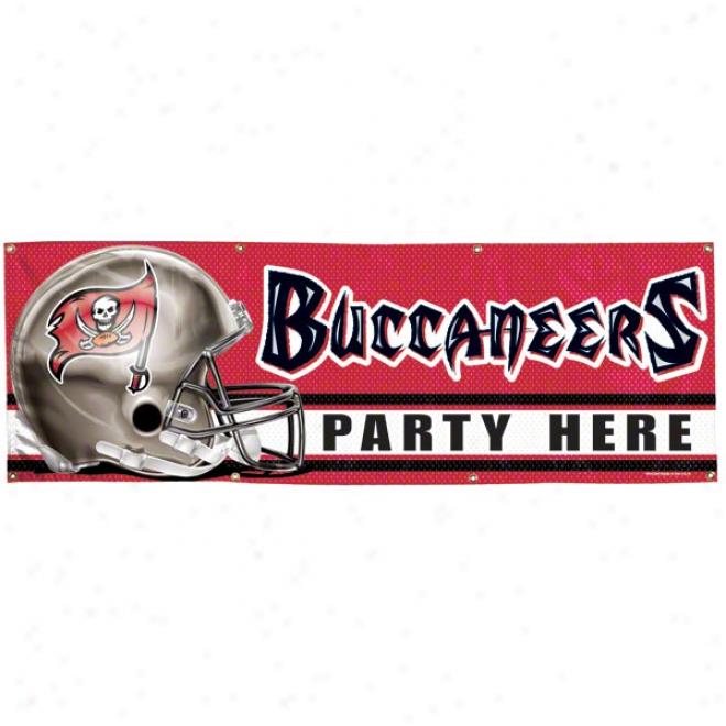 Tampa Bay Buccaneers 2x6 Vinyl Banner