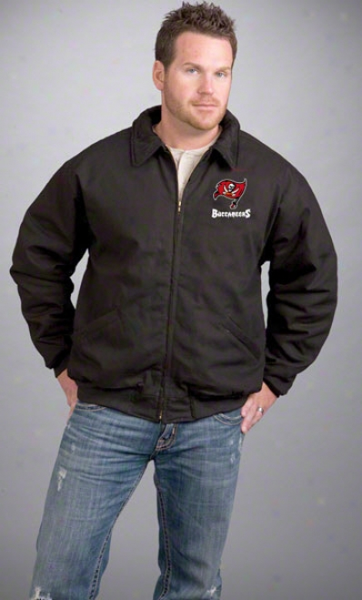 Tampa Bay-tree Buccaneers Jerkin: Black Reebok Saginaw Jacket