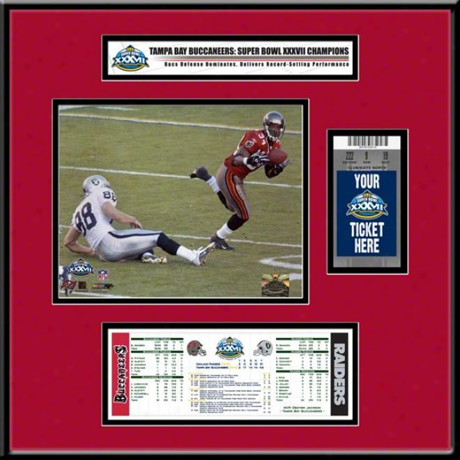 Tamap Bay Buccaneers Super Bowl Xxxvii Ticket Frame Jr.