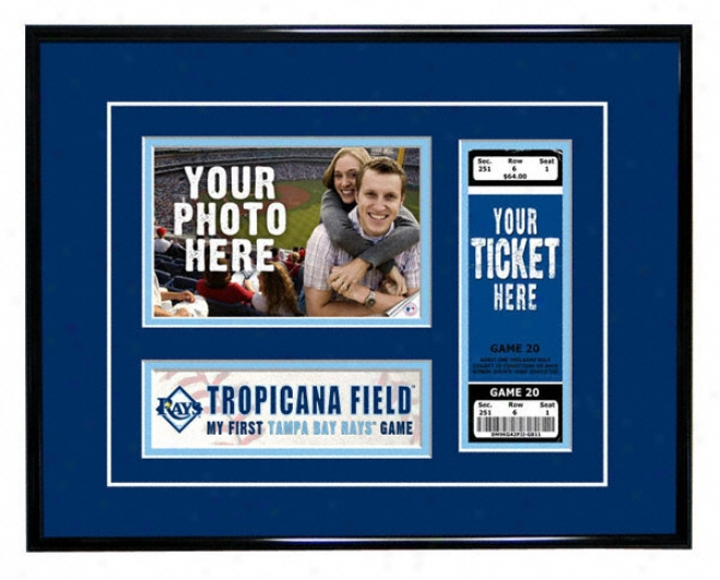 Tampa Bay Devil Rays - My First Game - Ticket Frame