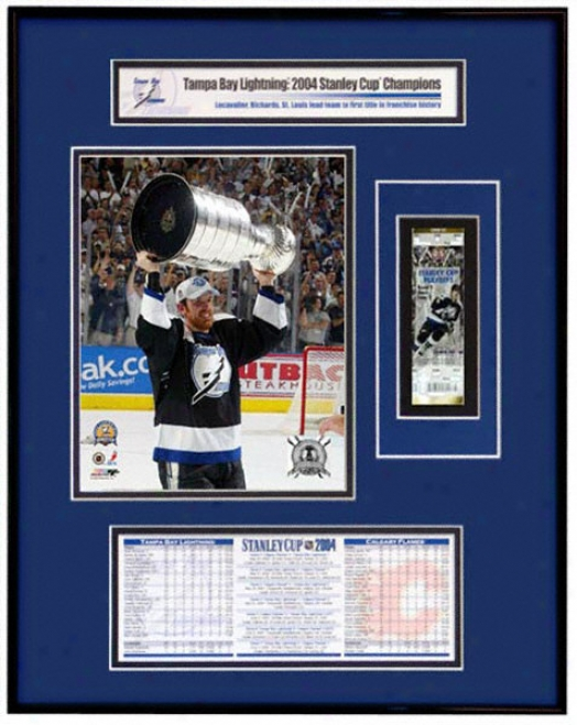 Tampa Bark Lightning - Brad Richards - 2004 Stanley Cup Ticket Frame Jr.