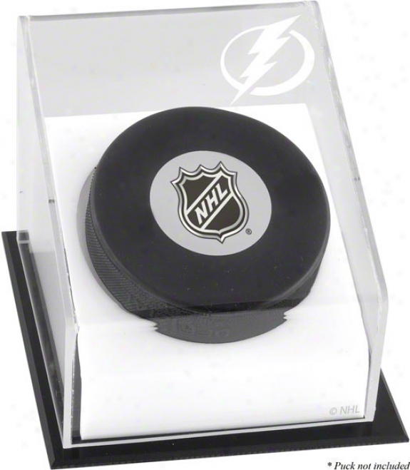 Tampa Bay Lightning Hockey Puck Logo Display Case