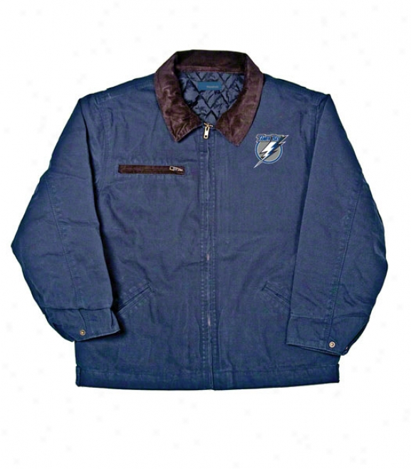 Tampa Bay Lightning Jacket: Blue Reebok Tradesman Jacket
