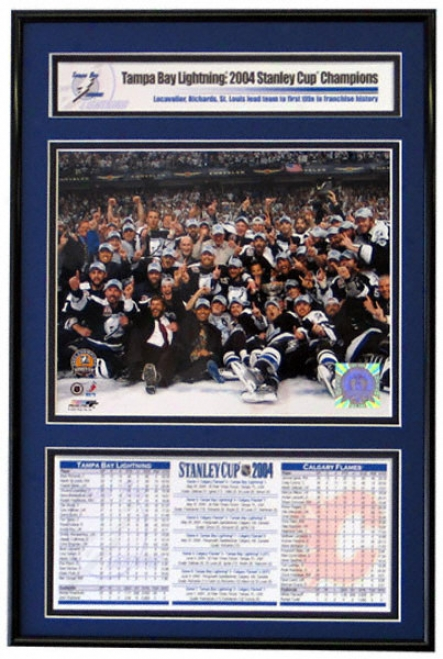 Tampa Recess  Lightning - Team Celebration - 2004 Stanley Cup Champions Frame