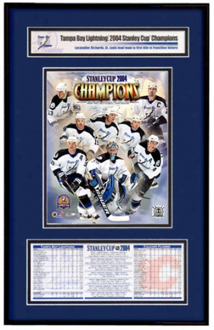Tampa Bay Lightning - Team Collage - 2004 Stanley Cup Champions Frame