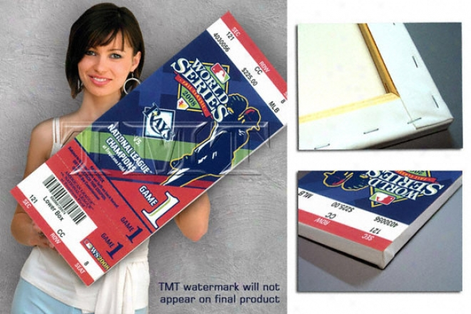 Tampa Bay Rays 2008 World Series Game 1 Canvas Mega Ticket