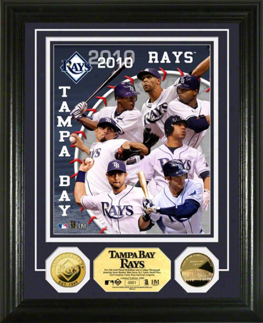 Tampa Bay Rays 2010 Team 24kt Gold Coin Photo Mint