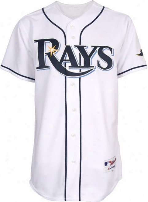 Tampa Bay Rays Authentic HomeW hite On-field Jefsey