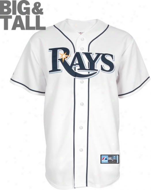 Tampa Bay Rays Big & Tall Home White Mlb Replica Jersey