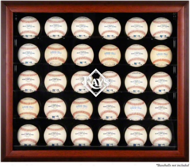 Tampa Bay Rays Framed 30-ball Logo Parade Case