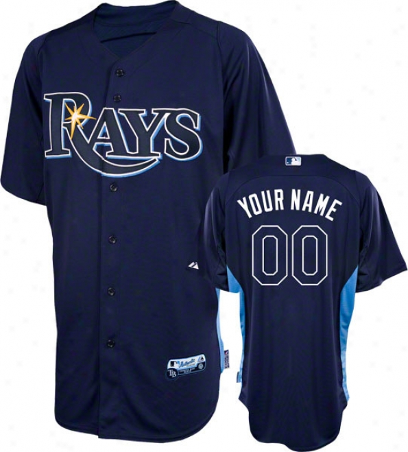 Tampa Bark Rays Jersey: Personalized Trustworthy Navy On-field Batting Actions Jersey
