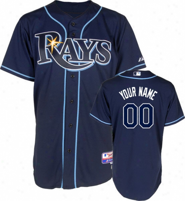 Tampa Bay Rays - Personalized With Your Name - Authentic Cool Baseã¢â�žâ¢ Alternate Navy On-field Jersey