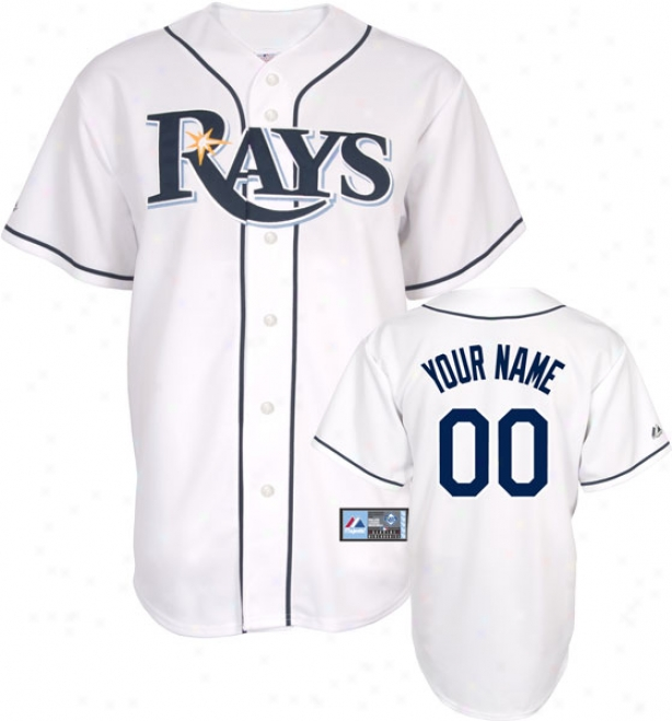 Tampa Bay Rays -personalized With Your Name- Home Mlb Replica Jersey