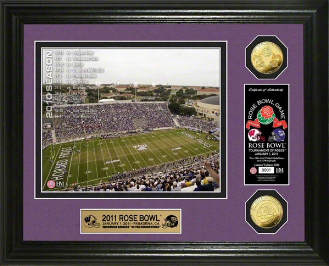 Tcu Hoorned Frogs2 011 Rose Bowl 24kt Gold Coin Photo Mint