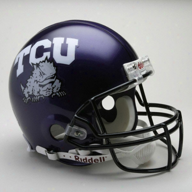 Tcu Horned Frogs Authentic Pr oLine Riddwll Full Size Helmet