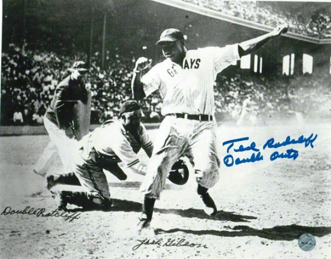 Ted &quotdouble Duty&quot Radcliffe St. Louis Stars Autographed 8x10 Photo Inscribed Double Duty