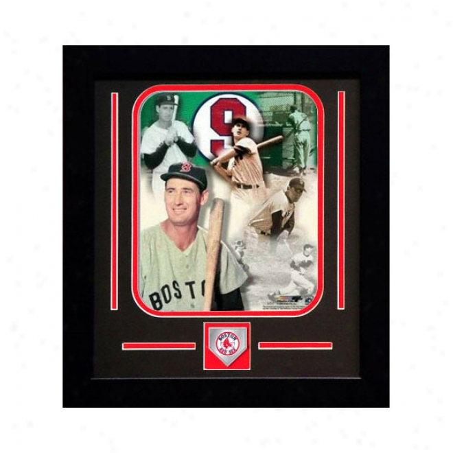 Ted Williams Booston Red Sox Sweep Collage Framed 8x10 Photograph With Team Medallion