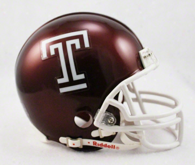 Temple Owls Riddell Mini Helmet