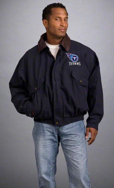 Tennessee Titans Jacket: Navy Reebok Navigator Jacket