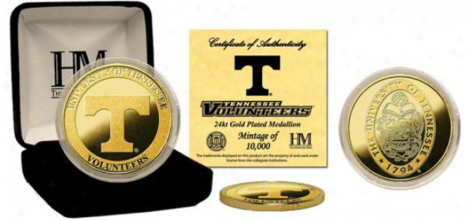 Tennessee Volunteers 24kt Gold Coin