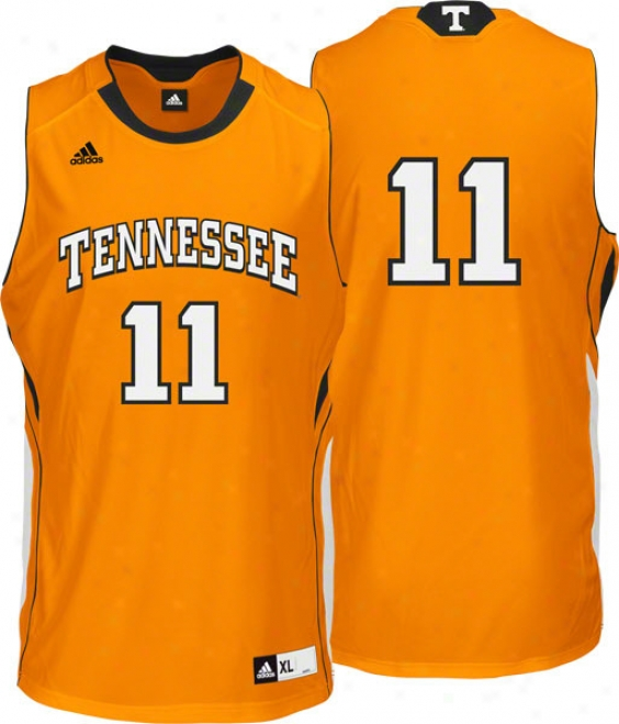 Tennessee Volunteers Adidas #11 Road Orange Replica Basketball Jersey