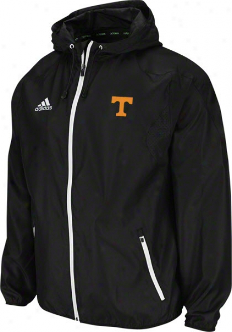 Tennessee Volunteers Adidas Black 2011 Football Adizero Sideline Lightweight Jacket