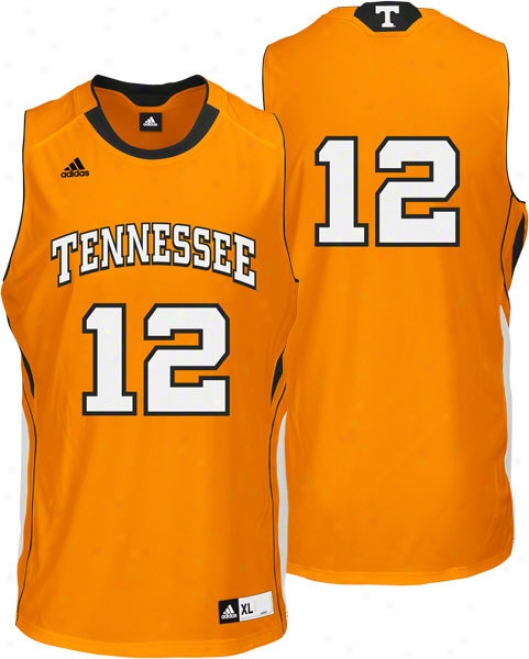 Tennessee Volunteers Adidas Road Orange Autograph copy Basketball Jersey