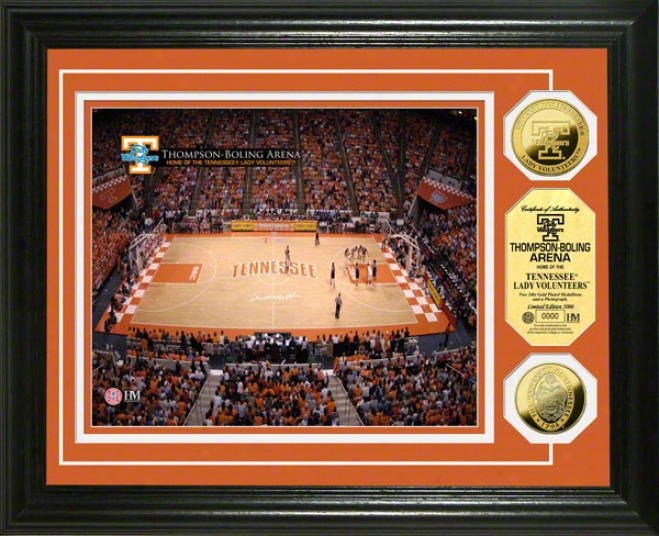 Tennessee Volunteers Lady Vols Thompson-boling Arena 24kt Gold Coin Pjoto Mint