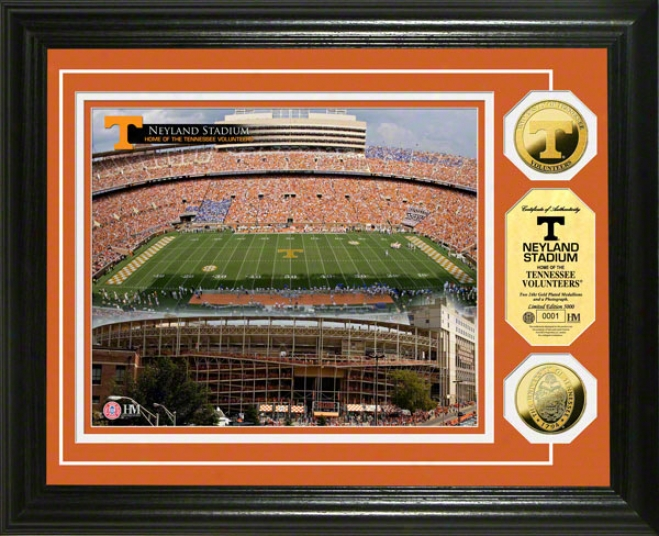Tennessee Volunteers Neyland Stadium 24kt Gold Coin Photo Mint