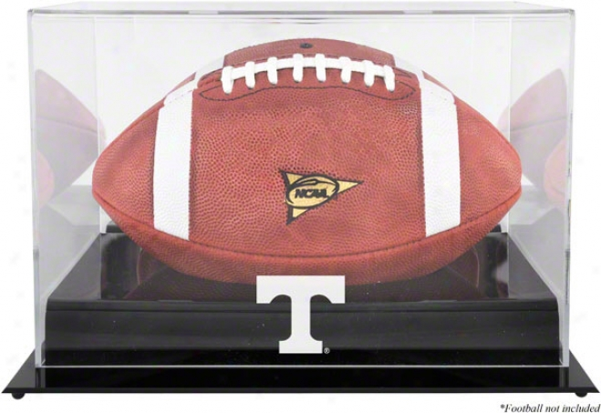 Tennessee Volunteers Team Logo Football Display Circumstance  Details: Black Base