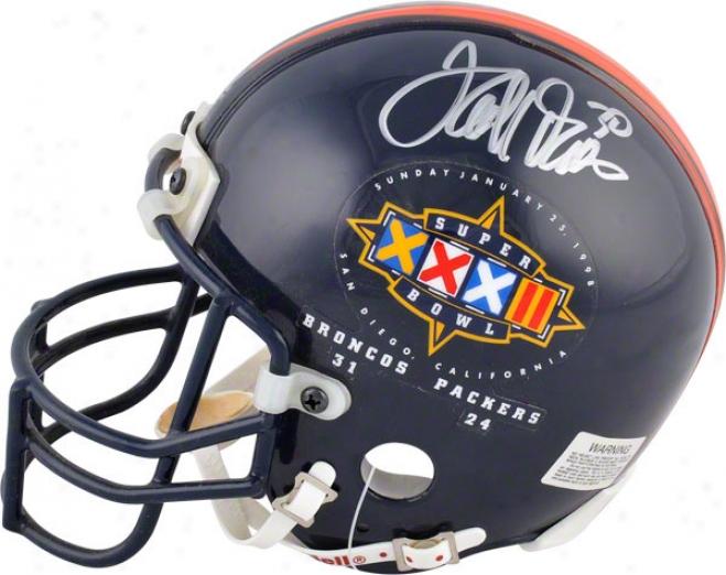 Terrell Davis Autographed Mini Helmet  Details: Denver Broncos, Sb 33 Logo