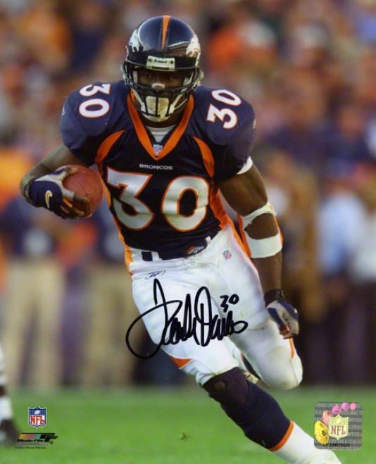 Terrell Davis Autographed Photograph  Details: Denver Broncos, 8x10